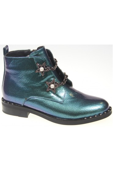 FL-A9054 BTB Ботинки детские KIPPONI, цвет синий, р-р 33-38