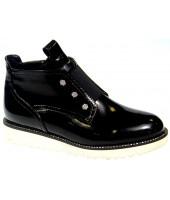 FL-S9039 BTB Ботинки детские KIPPONI, цвет черный, р-р 33-38