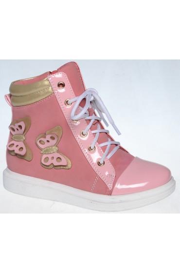 FL-W7298 BTB Ботинки детские Flois-Kids, цвет розовый, р-р 27-32