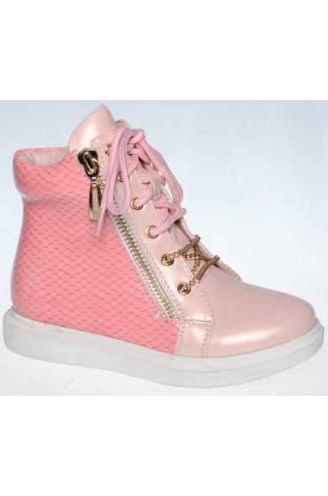 FL-W7299 BTB Ботинки детские Flois-Kids, цвет розовый, р-р 27-32