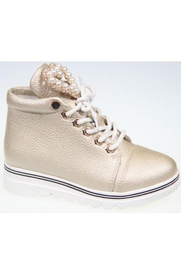 Ботинки детские KIPPONI, цвет золотой, р-р 26-31 FL-W8386 BTB
