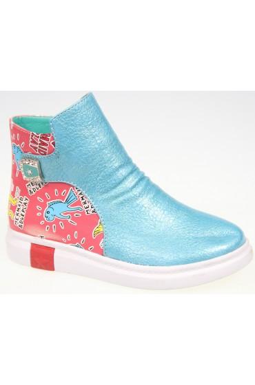 Ботинки детские KIPPONI, цвет бирюзовый, р-р 26-31 FL-W9158 BTB
