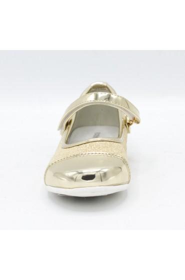 Туфли праздничные Flois-Kids, иск. кожа, цвет золото, р-р 26-31 FL-NY11505 TD