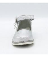 FL-NY11513 TD Туфли праздничные Flois-Kids, иск. кожа, цвет серебро, р-р 20-25