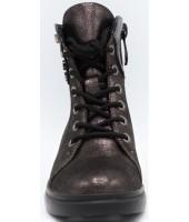Ботинки детские Flois-Kids, иск.кожа, цвет т.серебряный, р-р 27-32 FL-W13025 BTB