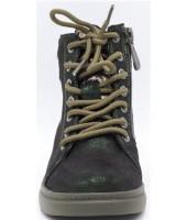 Ботинки детские Flois-Kids, иск.кожа, цвет т.зеленый, р-р 27-32 FL-W11244 BTB
