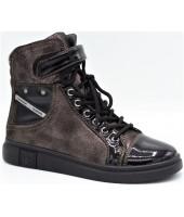 Ботинки детские Flois-Kids, иск.кожа, цвет черный, р-р 33-38 FL-W11248 BTB