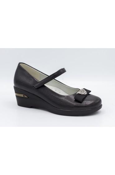 Туфли детские Flois Beautiful, иск.кожа, цвет черный, р-р 33-38 FL-S11623 TD