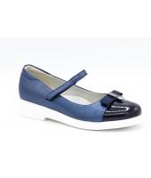 Туфли детские Flois Beautiful, иск.кожа, цвет т.синий, р-р 33-38 FL-S11136 TD
