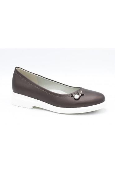 Туфли детские Flois Beautiful, иск.кожа, цвет т.серый, р-р 33-38 FL-S11145 TD
