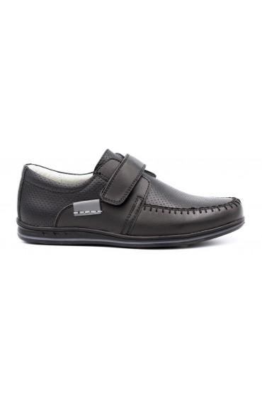 Туфли детские GC Flois, комбинир.кожа, цвет черный, р-р 32-37 FL-K7387 TM