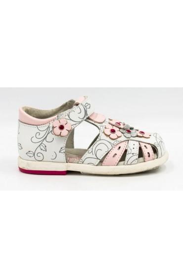FL-ST17511 BS Босоножки детские Flois-Kids, иск.кожа, цвет бело-розовый, р-р 21-26