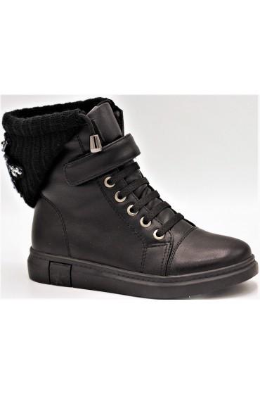 Ботинки детские Flois-Kids, иск.кожа, цвет черный, р-р 27-32 FL-W13024 BTB
