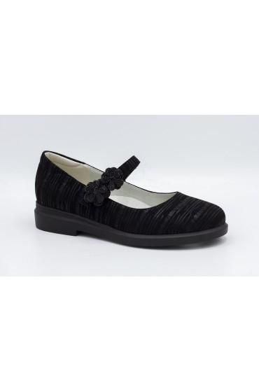 Туфли детские Flois Beautiful, иск.кожа, цвет черный, р-р 33-38 FL-S11157 TD