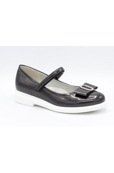 Туфли детские Flois Beautiful, иск.кожа, цвет т.серый, р-р 33-38 FL-S11160 TD