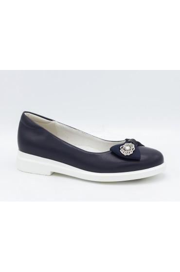 Туфли детские Flois Beautiful, иск.кожа, цвет т.синий, р-р 33-38 FL-S11156 TD