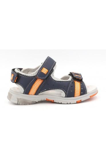 FL-AN17344 SA Сандалии детские Flois-Kids, иск.кожа, цвет т.синий-оранжевый, р-р 24-29