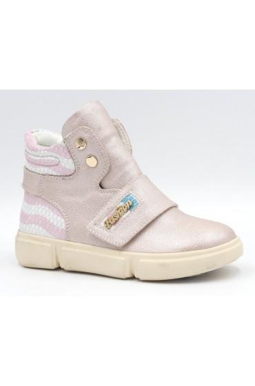 FL-W16983 BTB Ботинки детские Flois-Kids, иск.кожа, цвет св.розовый, р-р 27-32