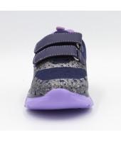 FL-BoI17415 PBT Полуботинки детские FESS, текстиль, цвет т.серый, р-р 27-32