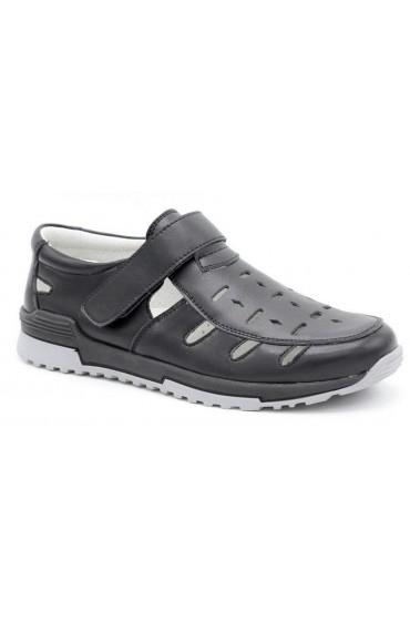 Туфли детские GC Flois, комбинир.кожа, цвет черный, р-р 32-37 FL-K11096 TM
