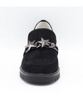 Туфли детские Flois-Kids, иск.кожа, цвет черный, р-р 33-38 FL-M11057 TD