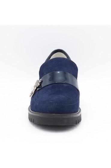 Туфли детские Flois-Kids, иск.кожа, цвет т.синий, р-р 33-38 FL-M11058 TD