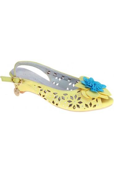 Босоножки детские Flois beautifull, цвет желтый, р-р 30-36 FL-00316 BS